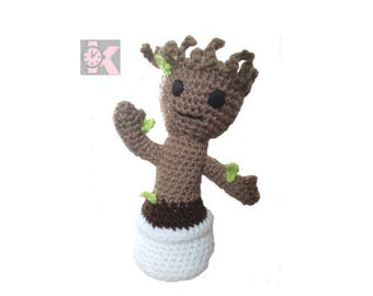 Adjustable Guardians of the Galaxy - Baby Groot, Wool figure: Great for the office