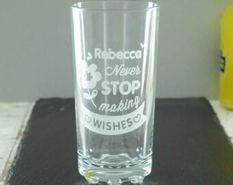 Girls Personalised Highball Glass