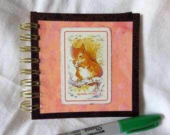 Squirrel! - Spiral bound art journal