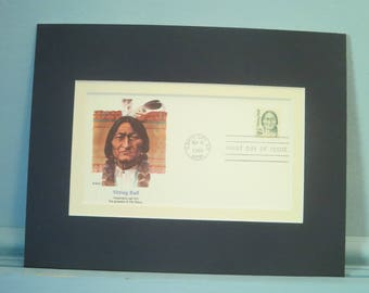 The Great American Indian Leader - Sitting Bull of Custer's Last Stand fame & First day Cover of his own stamp