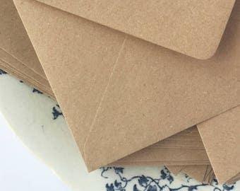 "50 4x6 Envelopes A6 Envelopes C6 Envelopes recycled for rustic wedding invitation envelopes/card making/diy craft True Size 4.1/2 x 6.3/10"""