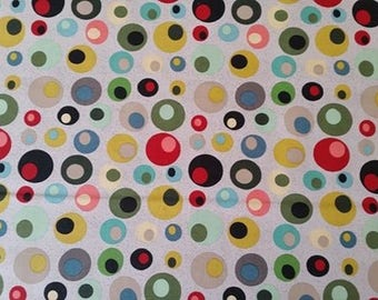 NEW * round multicolor print fabric. Sold in 10 cm