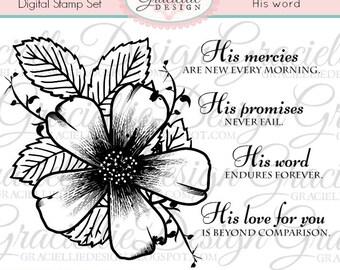 His Word - Digital Stamp Set