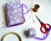 Blackwork Mosaic Needle Book & Scissor Fob.  PDF Pattern - download today and start stitching!