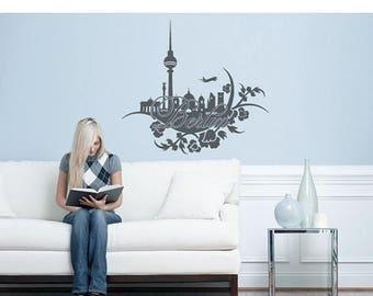 20% OFF Summer Sale Berlin Floral wall decal, sticker, mural, vinyl wall art