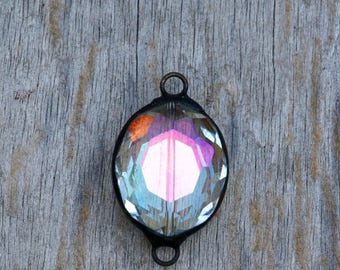 Large Soldered Faceted Crytsal Pendant
