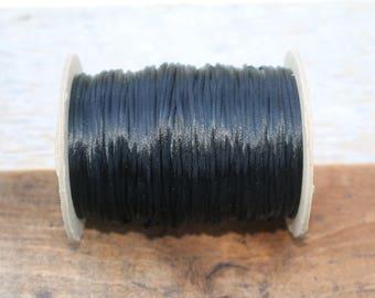 2mm Black Silk Cord
