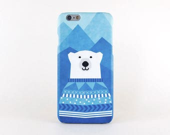 Polar Bear iPhone X case, iPhone 8 case, iPhone 8 Plus case, iPhone 7 case, iPhone 7 Plus case, iPhone 6 case, iPhone 6 Plus case, iPhone SE