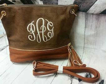 Monogram crossbody bag. bridesmaid. Monogram lover