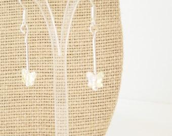 Swarovski crystal earrings, butterfly earrings, crystal earrings, drop earrings