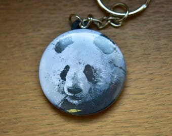 A giant panda keychain