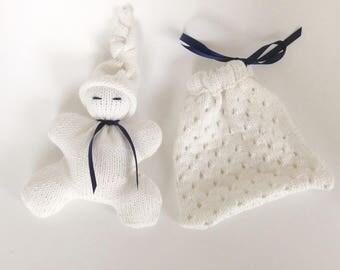 White Pixie newborn box and bag/blanket