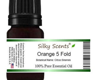 Orange 5 Fold (5X) Essential Oil (Citrus Sinensis) 100% Pure Therapeutic Grade