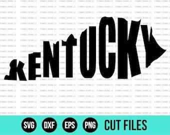 Kentucky SVG - SVG Files - Kentucky State SVG - Cut Files - Cricut Files - Silhouette Files - Vinyl Designs - State svg