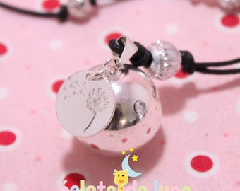 Pregnancy's Bola Bulan bola Xylophone charm with 925 sterling silver dandelion pattern circles