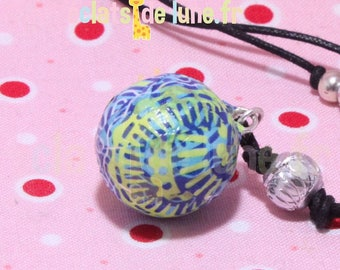 Genuine pregnancy's Bola ethenique blue green pattern