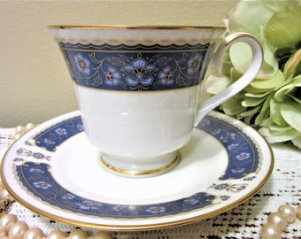 Cup Saucer Carico Fine China Renaissance 7951 Gold Trim Replacement Porcelain blm