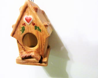 Sale Ornament Christmas Birdhouse Porcelain Ceramic Home Decor Decoration blm