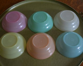 Vintage Tupperware Pastels Small Bowl Set of 6