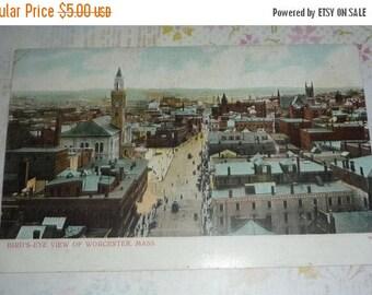 ON SALE till 6/30 Unused UBD Postcard - Bird's-Eye View of Worcester, Ma.