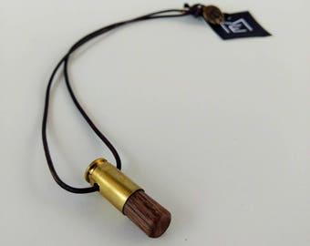 Walnut 40 cal. bullet pendant