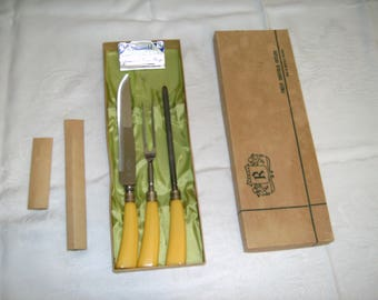3 piece Sheffield carving set