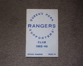 1965/66 Queens Park Rangers QPR FC Original Official Football Soccer Yearbook Handbook Ideal Christmas Gift or Birthday Present