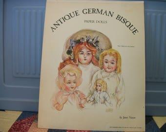 Antique German Bisque Paper Dolls the Collector's Art Series 1977