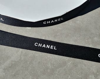 Sale!  5 yards Authentic New CHANEL Black Ribbon