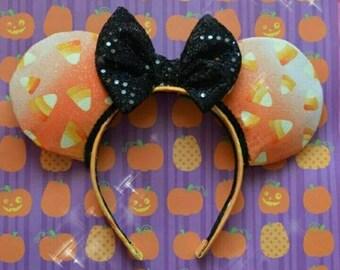 Candy Corn Halloween Minnie Mouse Ears