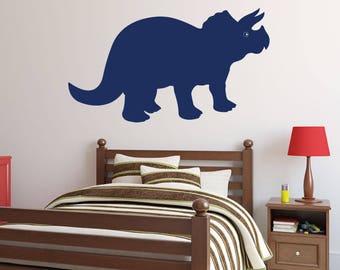 Dinosaur Vinyl Wall Decals - Triceratops - Dinosaur Wall Art