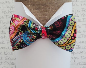 Bow ties for men, paisley bow tie, pre tied bow tie, bow ties uk