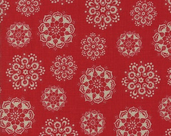 Moda Fabric French General Petite Maisons De Noel 13793-11...Sold in continuous cut 1/2 yard increments