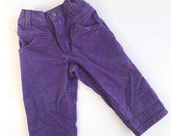 Vintage Purple Denim Jeans size 2T