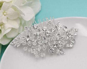 Crystal Comb, Rhinestone Comb, Swarovski Crystal Bridal Comb, Wedding Clip, Hair Comb, Wedding Hair Piece, Bridal Headpiece, comb 534380447