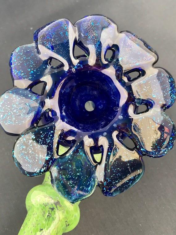 Glass Pipe  Sparkling Flower Sherlock
