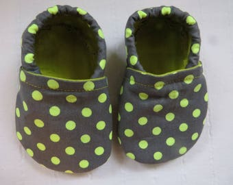 Baby Booties, Baby Shoes, Baby Fabric Shoes, Baby Moccasins, Soft Baby Shoes, Soft-Soled Baby Shoes,