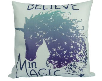 Believe in Magic Unicorn - Pillow Cover
