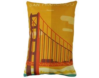 San Francisco | Adventure Time | Pillow Cover | Wanderlust | Throw Pillow | Travel Pillow | Home Decor | 12 x 18 Pillow | Adventure Awaits