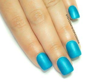 Short Nails-17 colors to choose-Press On nails-Reusable-Luxury Nails-Made with UV Gel-Salon Nails-Fake Nails-False Nails-Glue On Nails