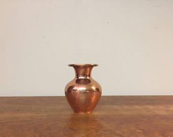 """3.5"""" Hammered Copper Bud Vase"""