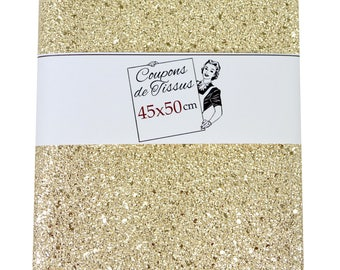 Glittery faux leather gold - 45 x 50 cm coupon-