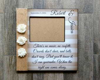 Personalized Wedding Song Lyric Picture Frame | First Dance Picture Frame | All of Me Lyric Frame | Personalized Wedding Vows Gift
