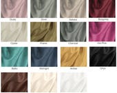 FAUX SILK (solids) fabric swatches