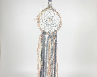 Gifts for Her, Pink Gray Dream Catcher, Hippie Gifts, Hostess Gifts, Housewarming Gifts