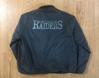 Los Angeles Raiders Chalkline Jacket - Large - Raider Nation - NFL - Vintage Clothing - 80s Clothing - Vtg - Mens - Faded - Chalk Line -