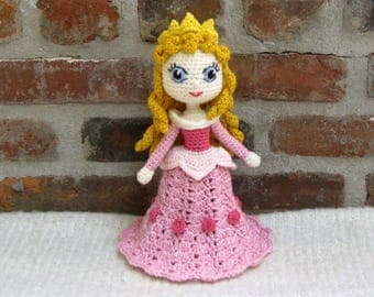 Amigurumi Doll Crochet Doll finished  - AURORA - Sleeping Beauty - Amigurumi Princess - Plush Doll Girl