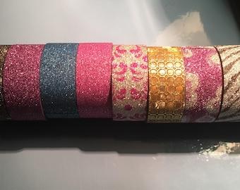 Glitter craft tape 15mmx3m. Pick your favourite. Craft card making scrapbook kids