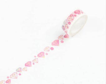Diamond - Washi tape masking tape adhesive with diamonds