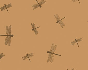 5 sheets of tissue paper with leaves wrapping Dragonfly - dragonflies